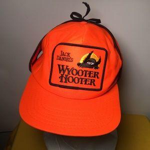 Jack Daniels's Wyooter Hooter neon Hat w/ear flaps
